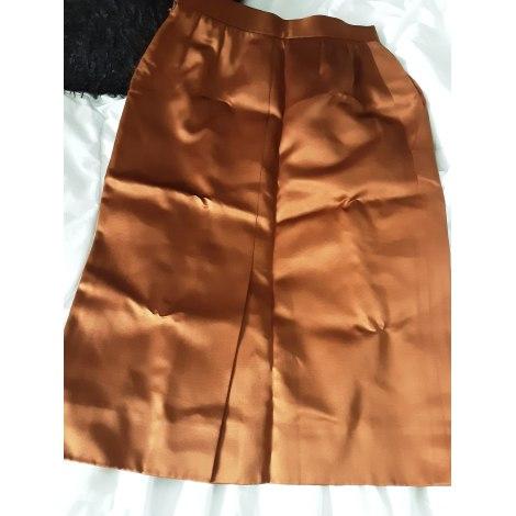 Jupe mi-longue YVES SAINT LAURENT Doré, bronze, cuivre