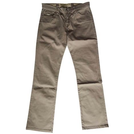 Jeans droit JACOB COHEN Marron