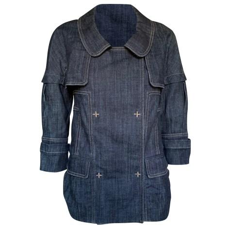 Veste en jean CHRISTIAN LACROIX Bleu, bleu marine, bleu turquoise