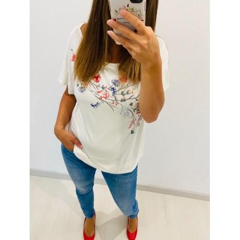 Top, tee-shirt YESSICA Blanc, blanc cassé, écru