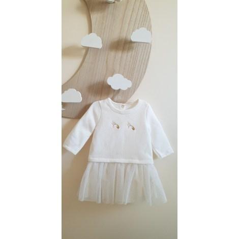 Robe PETIT BATEAU Blanc, blanc cassé, écru