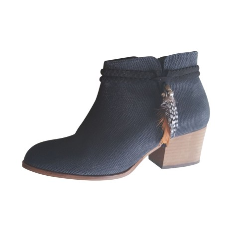 Bottines & low boots à talons SCHMOOVE Bleu, bleu marine, bleu turquoise