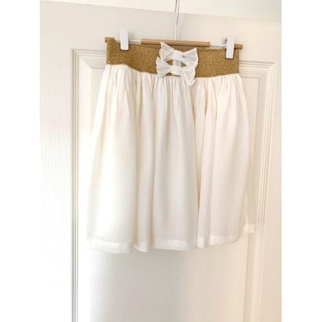 Jupe courte SANDRO Blanc, blanc cassé, écru