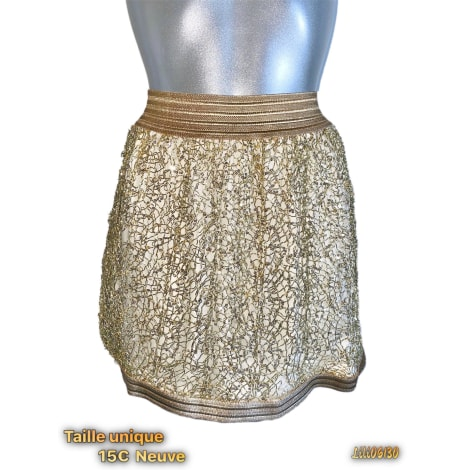 Jupe courte MARQUE INCONNUE Doré, bronze, cuivre