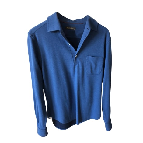 Polo LORO PIANA Bleu, bleu marine, bleu turquoise