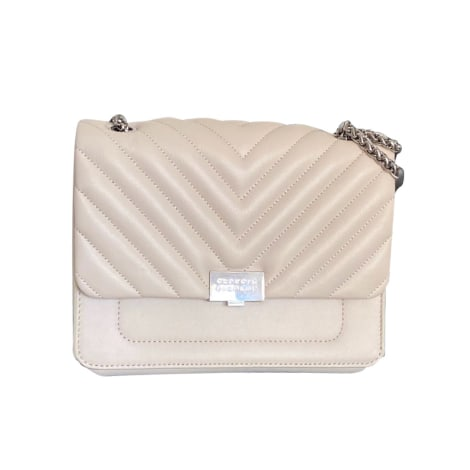 Leather Handbag CLAUDIE PIERLOT White, off-white, ecru