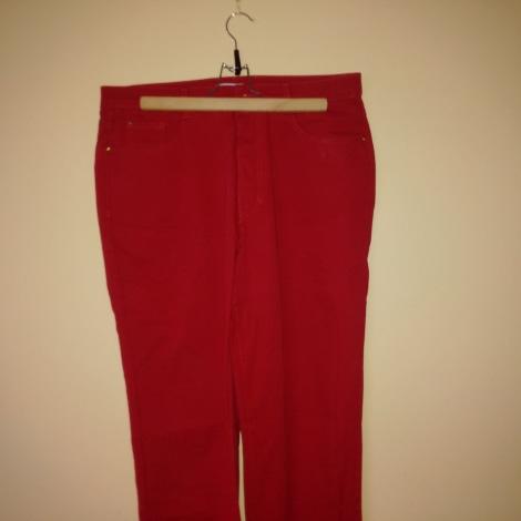 Jeans droit BRUNO SAINT HILAIRE Rouge, bordeaux