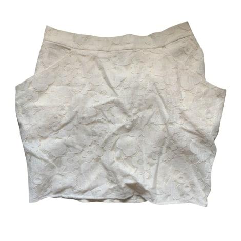 Jupe courte ROSEANNA Blanc, blanc cassé, écru