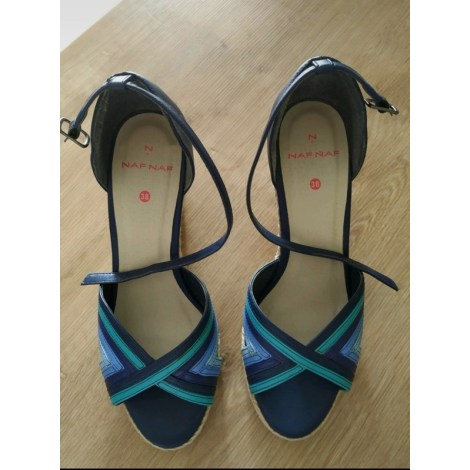 Sandales compensées NAF NAF Bleu, bleu marine, bleu turquoise