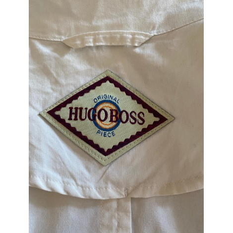Imperméable, trench HUGO BOSS Blanc, blanc cassé, écru