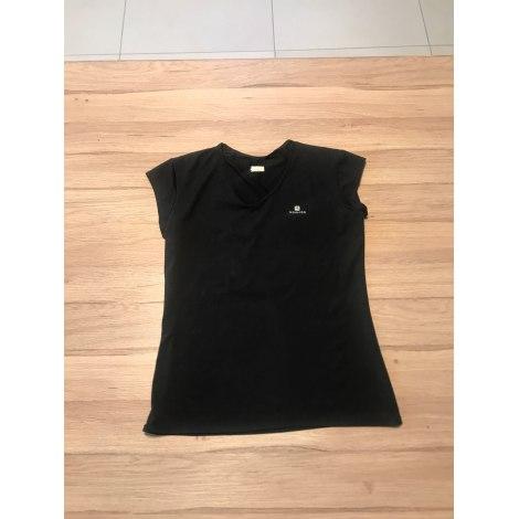 Top, tee-shirt DOMYOS Noir