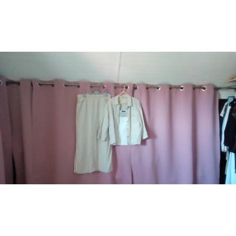 Tailleur jupe BLEU 123 Blanc, blanc cassé, écru