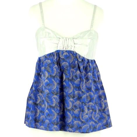Top, T-shirt IRO Blue, navy, turquoise