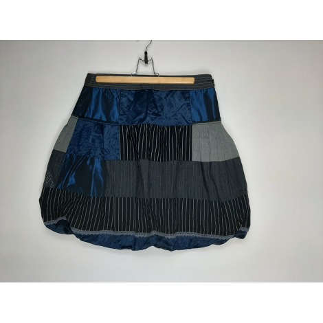 Jupe courte DESIGUAL Bleu, bleu marine, bleu turquoise