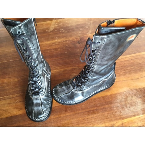 Bottines & low boots plates EJECT Gris, anthracite