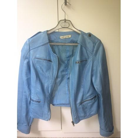 Veste en cuir MILLENIUM Bleu, bleu marine, bleu turquoise