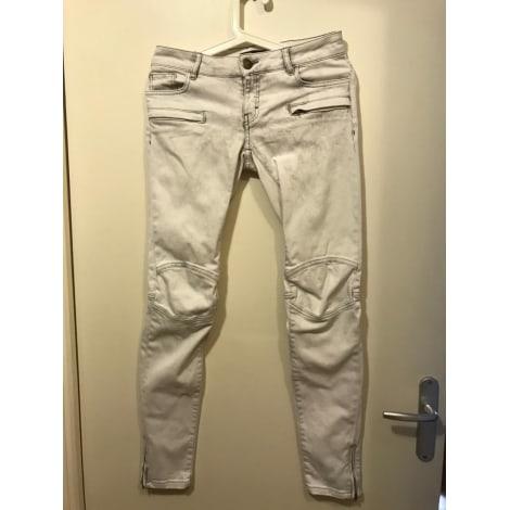 Jeans slim MAJE Blanc, blanc cassé, écru