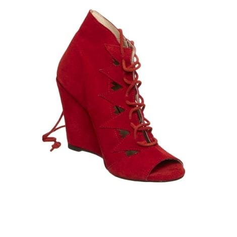 Bottines & low boots à compensés BEL AIR Rouge, bordeaux
