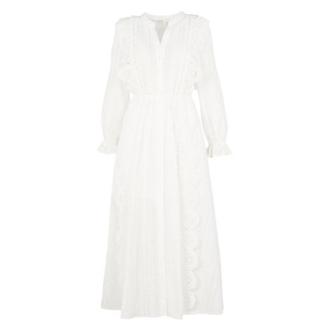 Robe mi-longue MAJE Blanc, blanc cassé, écru