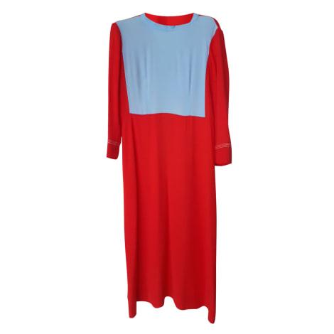 Robe mi-longue MARNI Rouge, bordeaux