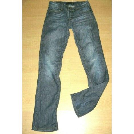 Jeans droit JUST CAVALLI Bleu, bleu marine, bleu turquoise