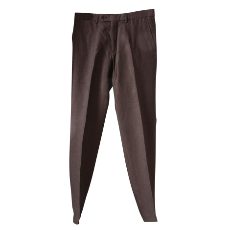 Pantalon droit CARVEN Marron