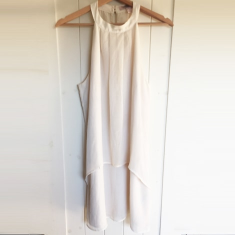 Robe courte LOVE 21 Blanc, blanc cassé, écru