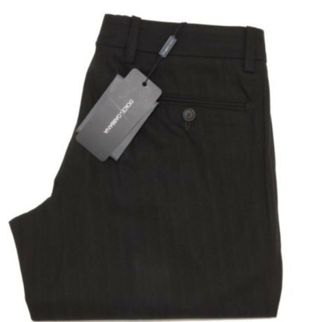 Pantalon large DOLCE & GABBANA Marron