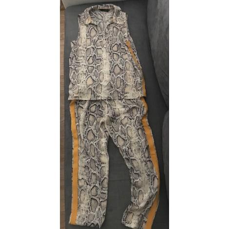 Pantalon large ZARA Argenté, acier