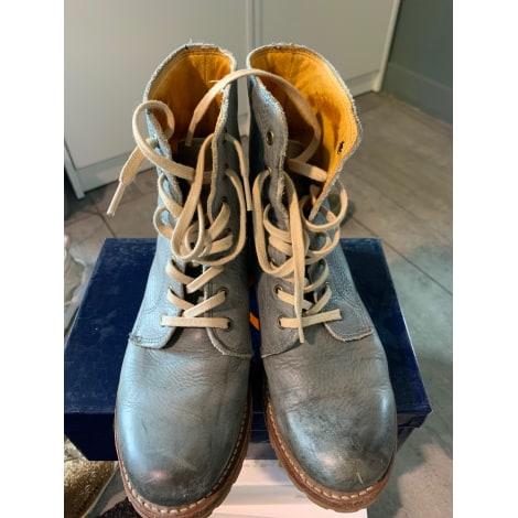 Bottines & low boots motards FRYE Bleu, bleu marine, bleu turquoise