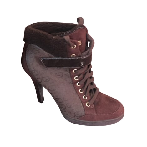 High Heel Ankle Boots GUESS Brown