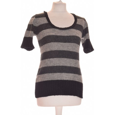 Top, tee-shirt LA FÉE MARABOUTÉE Gris, anthracite