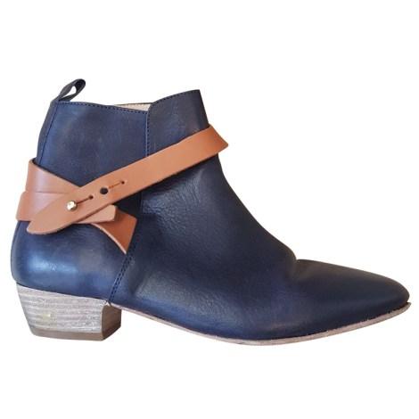 Bottines & low boots plates AIGLE Bleu, bleu marine, bleu turquoise