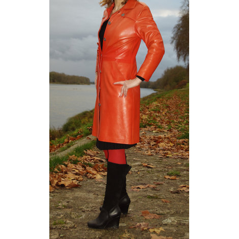 Manteau en cuir MAC DOUGLAS Orange