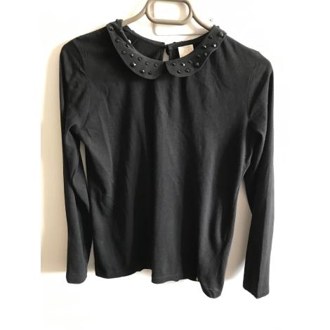 Top, tee-shirt DES PETITS HAUTS Noir