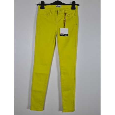 Jeans slim WHO'S WHO Jaune
