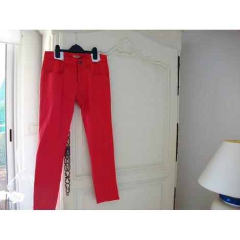 Pantalon slim, cigarette BEL AIR Rouge, bordeaux