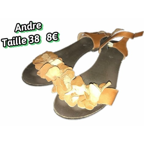 Tongs ANDRÉ Beige, camel