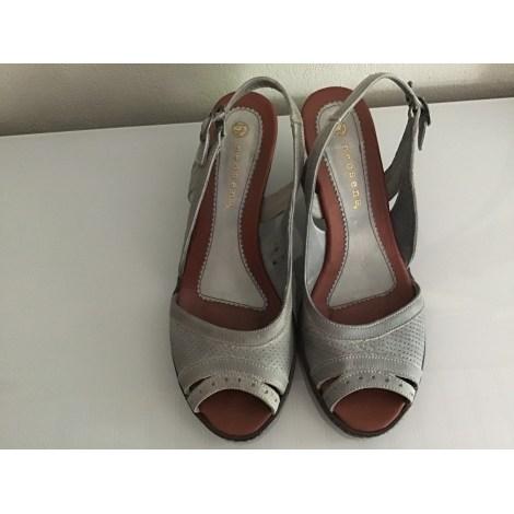 Sandales compensées NEOSENS Gris, anthracite