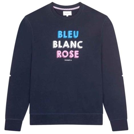 Sweat VICOMTE A. Bleu, bleu marine, bleu turquoise