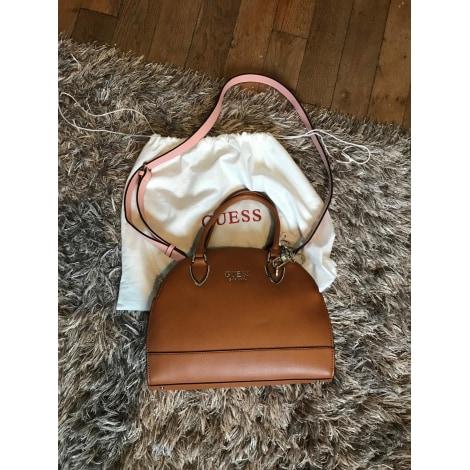 Leather Handbag GUESS Beige, camel