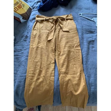 Pantalon large SÉZANE Jaune