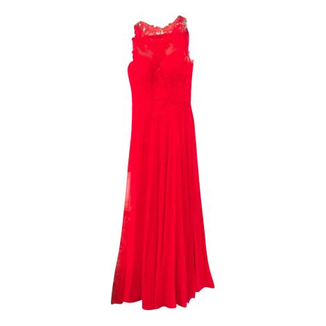 Robe longue PRONOVIAS Rouge, bordeaux