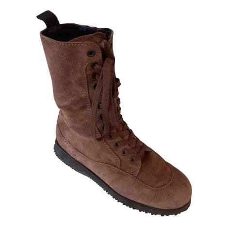 Bottines & low boots plates HOGAN Marron