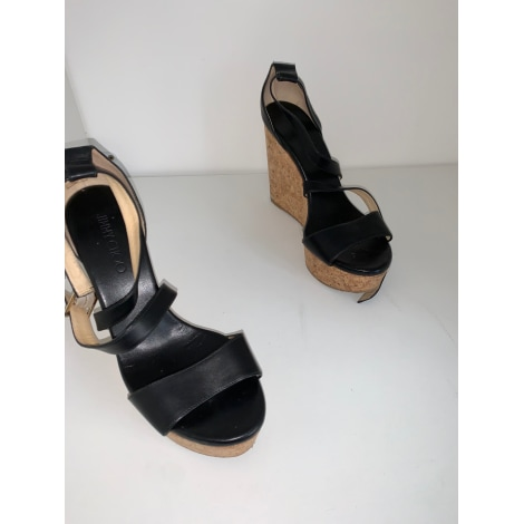 Sandales compensées JIMMY CHOO Noir
