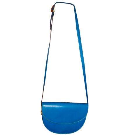Sac en bandoulière en cuir BALLY Bleu, bleu marine, bleu turquoise