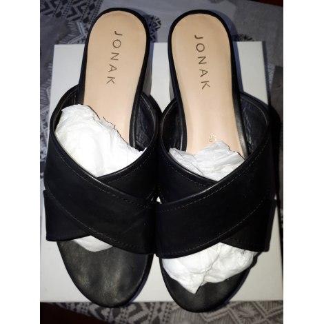 Sandales compensées JONAK Noir