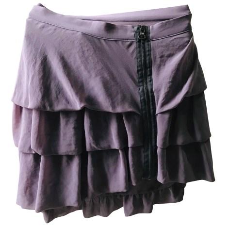 Jupe courte COP-COPINE Violet, mauve, lavande