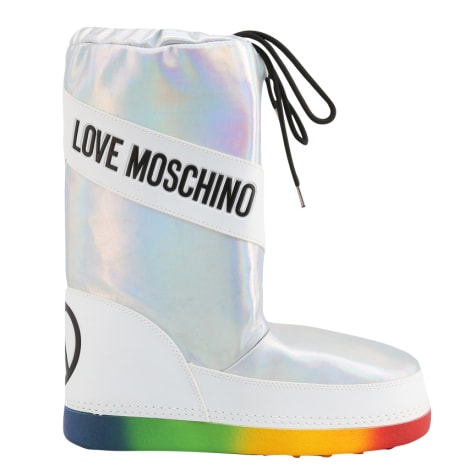 Bottes plates LOVE MOSCHINO Gris, anthracite