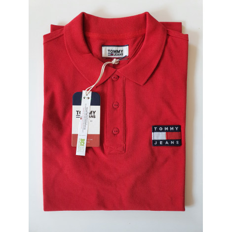 Polo TOMMY HILFIGER Rouge, bordeaux